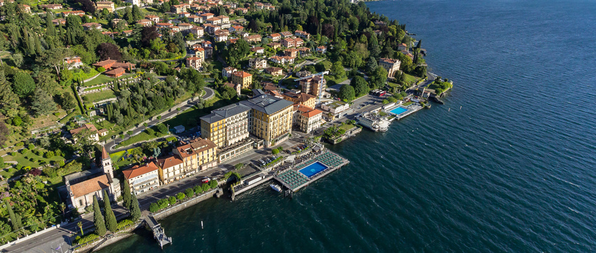 Hotel Britannia Excelsior, Cadenabbia, Lake Como, Italy - Aerial view of the hotel.jpg